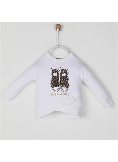 Panço Kız Çocuk Sweatshirt 2021GK08016 Beyaz